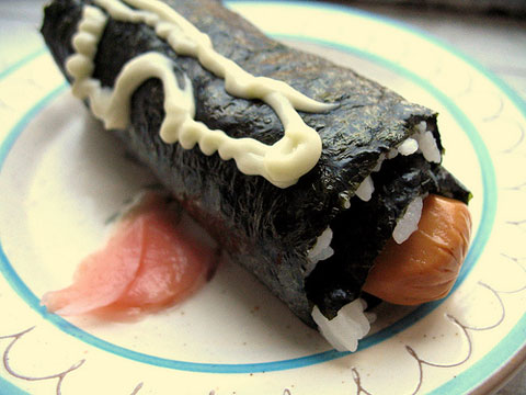 Erway's version of the hot dog: a Maki Dog.
