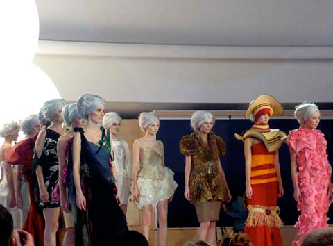 EcoChic Geneva runway finale at the United Nations in January 2010. Photo by Abigail Doan.
