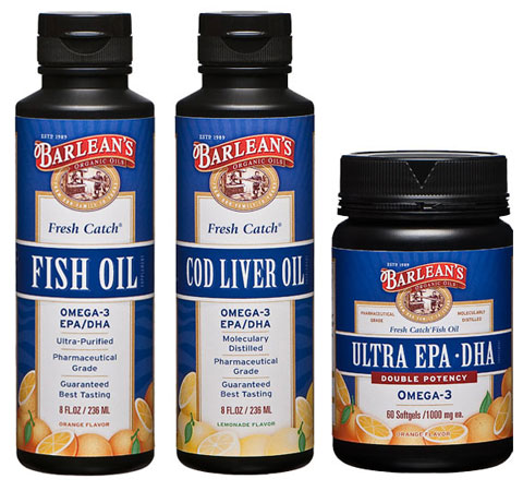"Barlean's also carries a variety of fish oils, these ""Fresh Catch"" products are tested for optimal freshness and reliability in independent labs."