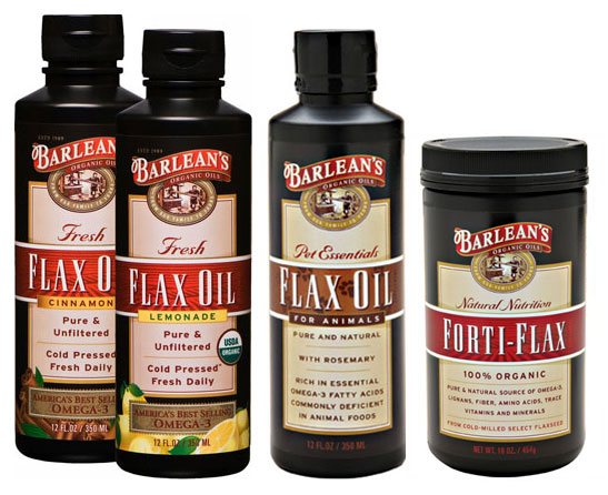 Barlean's organic flax seed supplements come in a variety of forms: flavored, liquid, ground.