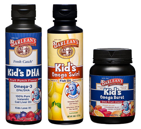 Barlean's also carries a variety of products for kids. Will more playful packaging may help get kids to take their supplements? It's worth a try.
