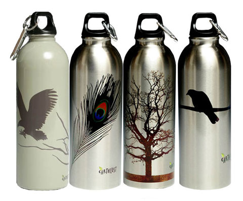 Stylish reusable bottles from EarthLust.