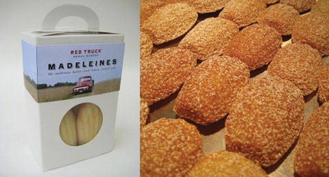 Authentic French Madeleines with a hint of lemon (and lovely packaging).