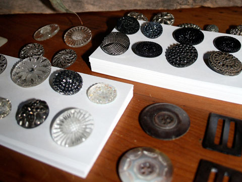 Muenster collects stones, shells, buttons and vintage pieces that serve as inspiration for her collections.