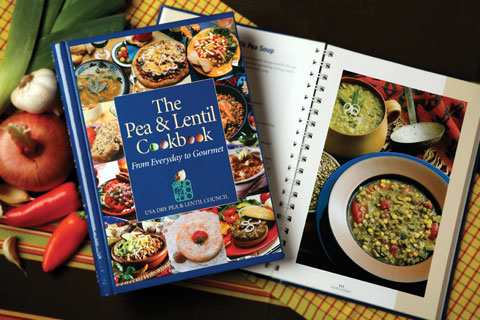 The Pea and Lentil Cookbook features dozens of pea, lentil, and chickpea recipes for dips, salads, soup, entrees, breads and desserts — helpful for those of us not yet familiar with some varieties of grains and legumes.