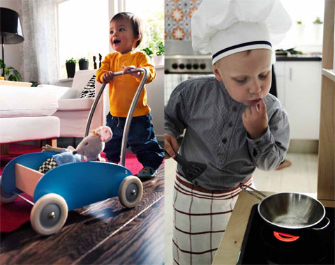 Making everyday activities like cooking a form of play by involving the children is a good way for families to get more playtime into their busy schedules.