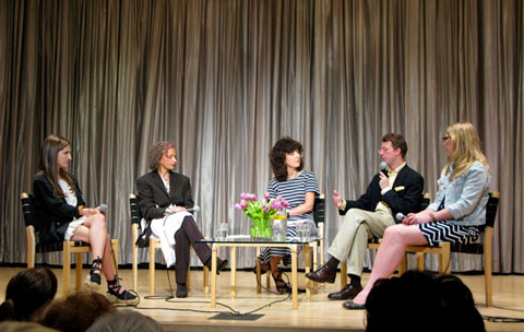The panel, left to right: Eviana Hartman, Sass Brown, Hazel Clark, Marcus Bergman & Karin Stenmar.