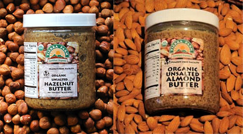 Tierra Farm's Unsalted Hazelnut Butter & Unsalted Almond Butter.
