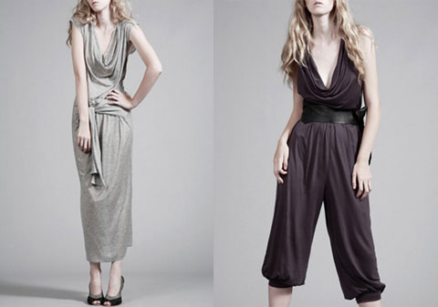 Tencel 5-in-1 dress and tencel jersey jumpsuit from Thieves.