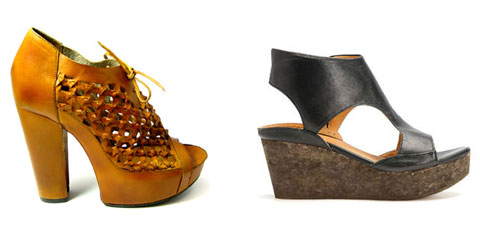 Fair trade footwear by Where & mosaic cork sandal by Coclico.