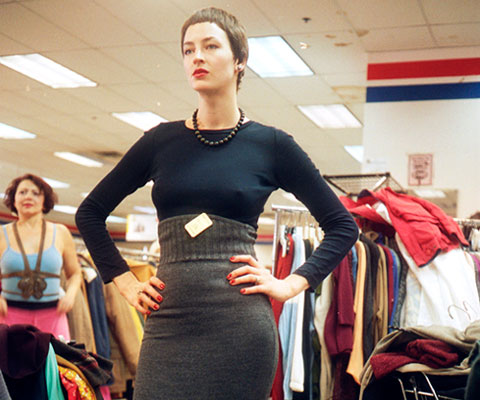 Bright Young Things designer Eliza Starbuck thrift shopping.