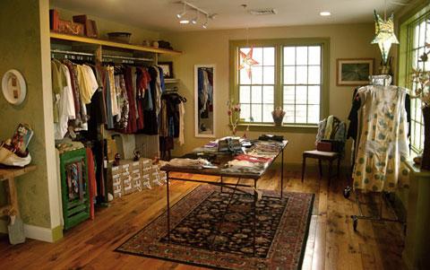 Shift boutique's eco inspired interior.