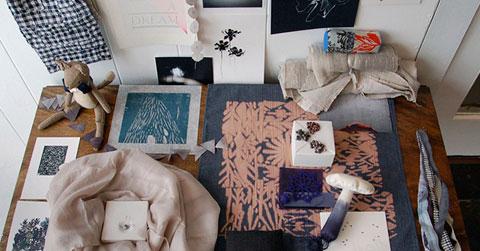 Chellis Wilson art fashion installation tabletop. Photo by Maria Alexandra Vettes.