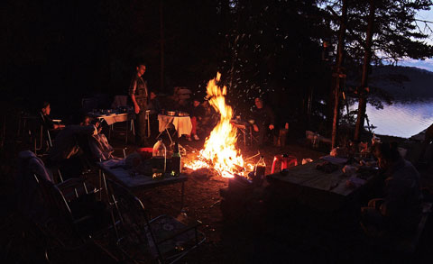 Storytelling around the campfire, one of the basic tenets of camping. Photo by Boby Dimitrov, Creative Commons.