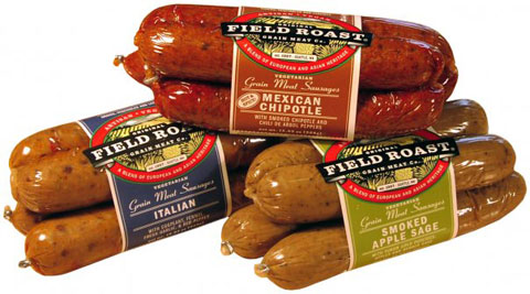 The Vegetarian Sausage line: Italian, Mexican Chipotle & Smoked Apple Sage.