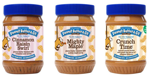 Goodlifer: Peanut Butter & Co's Cinnamon Raisin Swirl, Mighty Maple & Crunch Time flavors.