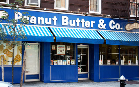 Peanut Butter & Co., on 240 Sullivan Street in NYC's Greenwich Village. Photo by meltingnoise, Creative Commons.