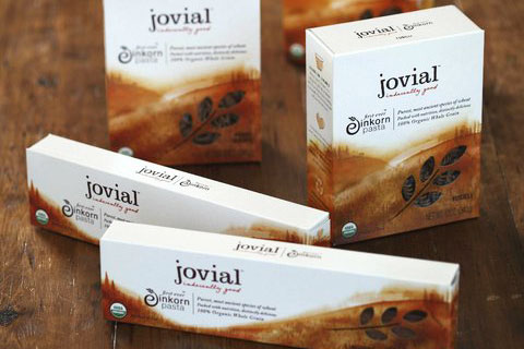 Whole Grain Einkorn Pasta. All of Jovial's varieties are 100% organic.