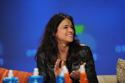 Actress Michelle Rodriguez received Opportunity Green's Eco-Maverick award for her environmental advocacy efforts.