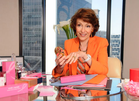 Evelyn Lauder is one of the masterminds behind the pink ribbon, and a breast cancer survivor.