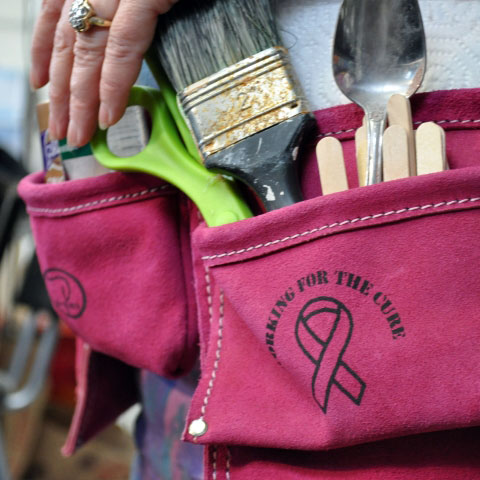 Will pink toolbelts help us win the fight against breast cancer?
