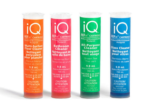 iQ REFill cartridges contains all the cleaning power you need, in a tiny package that's easy to ship. Just add tap water.