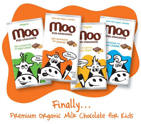 Moo Chocolate comes in four kid-friendly flavors: Rice Crisps, Granola, Corn Flakes and Graham Crackers.