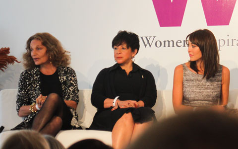 Diane Von Furstenberg, Sheila Johnson and Tamara Mellon.