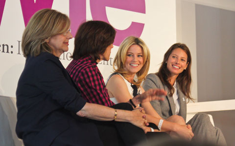 """Telling Womens Stories"" panelists, from left to right, Nancy Meyers, Nora Ephron, Elizabeth Banks and Christy Turlington."
