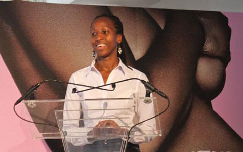 Young advocate Gloria Iribagiza from Rwanda.