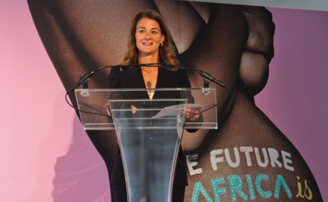 Melinda Gates, Co-Chair and Trustee of the Bill & Melind Gates Foundation, recieved the WIE Inspiration Award for her efforts to help alleviate poverty.
