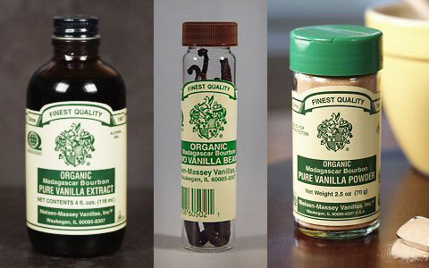 Nielsen-Massey Organic Madagascar Bourbon Pure Vanilla Extract, Beans & Powder.