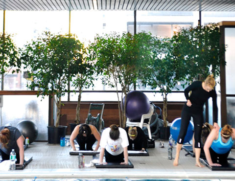 Group core class — a great way to tone your muscles. Photo by Sara Beth Turner.