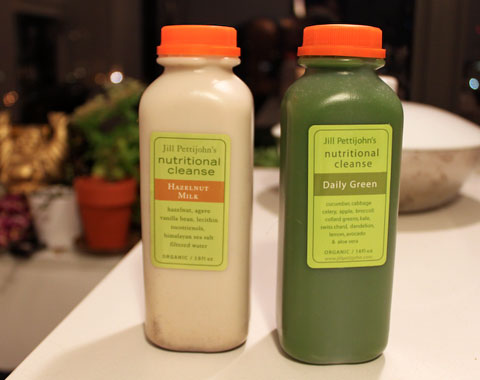 The last two juices in my five-day juice cleanse, something I will definitely keep doing a few times a year.