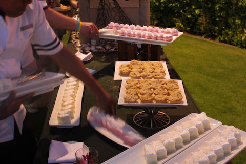 Beware of the buffet! The temptations of the fancy food at evening functions were many, but I managed to resist.