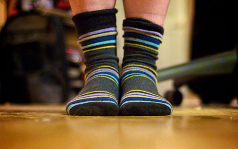 Having a no-shoes policy inside the house will reduce the chance of tracking in pesticides from outside. Photo by Elizabeth Beers, Creative Commons.