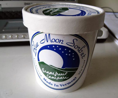 Blue Moon Sorbet can be found in most Whole Foods, well-stocked supermarkets and health food stores in the Northeast.