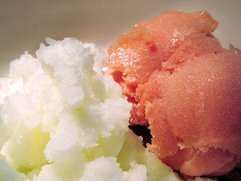 Blue Moon Lemon Zest and Peach Melba sorbet. Image via Wicked Flavory.