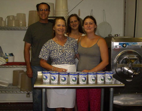 Blue Moon Sorbet is still a small-scale manufacturer, located in Quechee, Vermont.