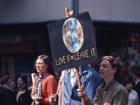 Protesters at the first Earth Day.