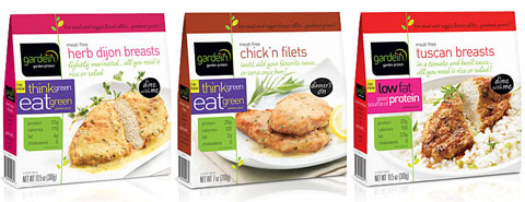 Gardein meat-free herb dijon breasts, chick'n filets & tuscan breasts.