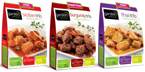 For a quick meal, Gardein's trio line (complete with rice) is ready in minutes.