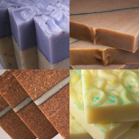 Kettlepot Soaps features lots of splashes of color, along with some uncommon scents.