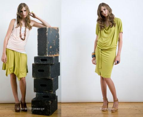 Nicole Bridger Trust Tank, Surrender Skirt and Strength Dress.