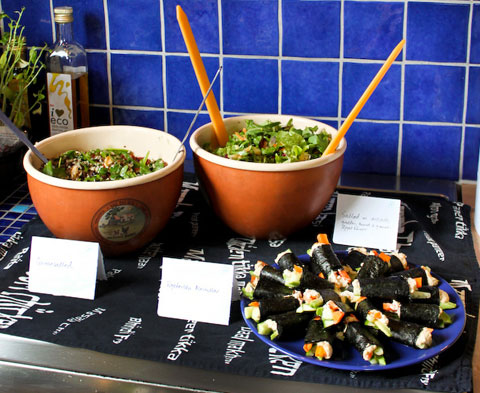 I made some raw food dishes for the buffet at my sister's graduation party recently and found that if you don't tell people that it is, in fact, raw food they are eating you can avoid all the usual skepticism.