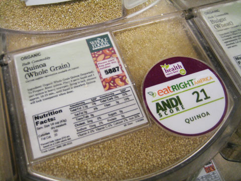 Quinoa is the only grain that is also a source for complete protein. It's super good for us, yet, it has a low ANDI score. Does this mean quinoa is bad or nutritionally poor? Not at all, and this is where the ANDI score system can be confusing.