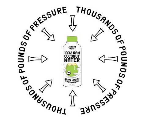 To eliminate pathogens Harmless Harvest coconut water is treated with a process called HPP or High Pressure Processing. This minimally affects the flavor of products, unlike heat pasteurization, which is known to change taste significantly.