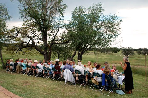 $5 Challenge dinner in the field. Photo by Susan Shields.