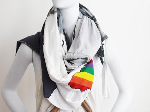 Julie Gilhart = Bantu + D/M Art scarf.