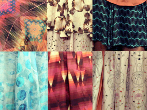 Gretchen Jones SS12 Custom textiles by We Are After All's Photorealistic and Afton Hakes's Graphic.